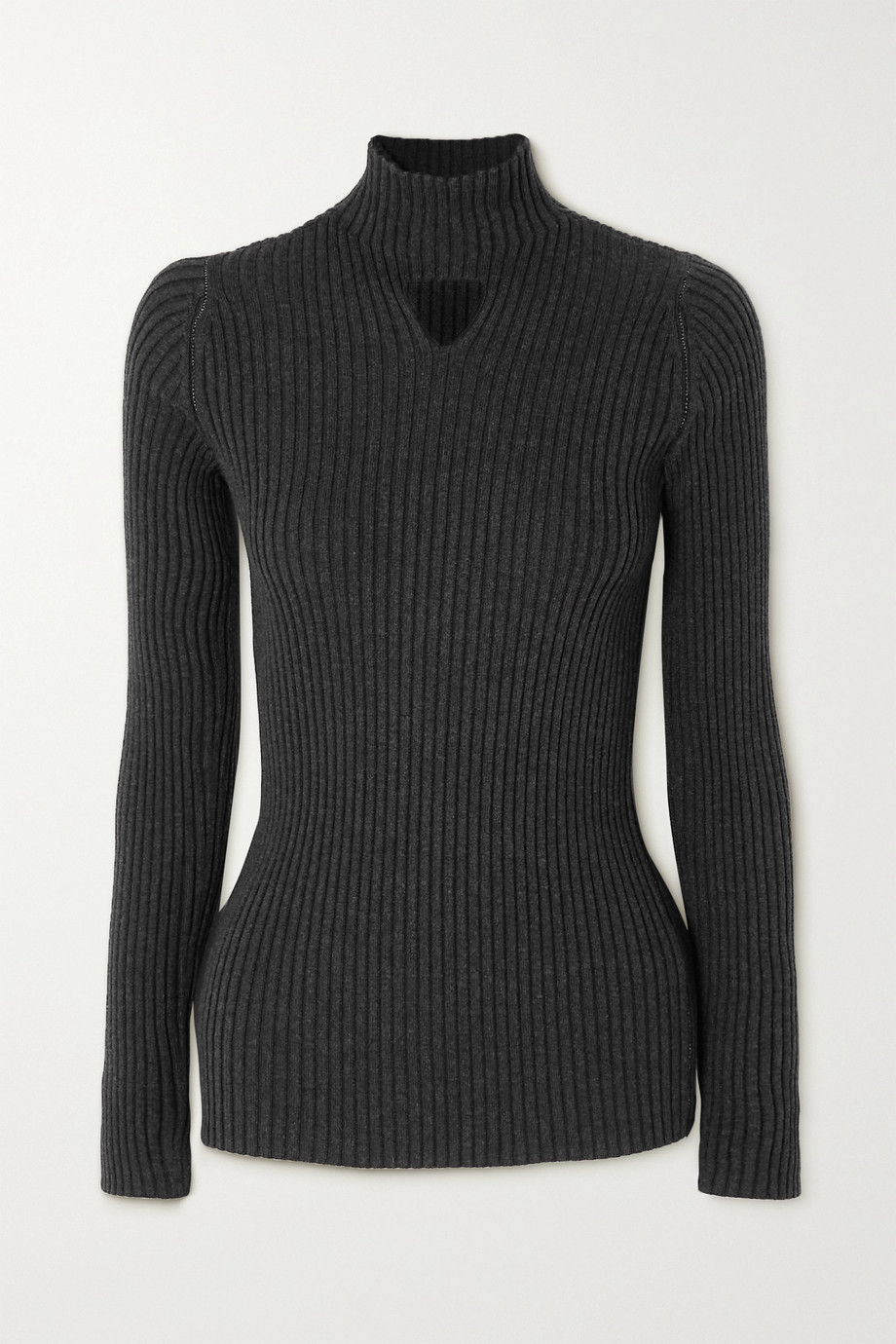 Bottega Veneta Cutout ribbed wool-blend sweater
