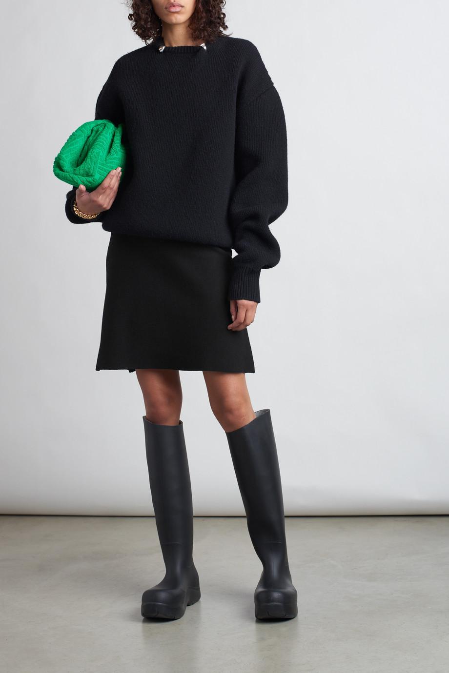 Bottega Veneta Ruffled wool-blend mini skirt