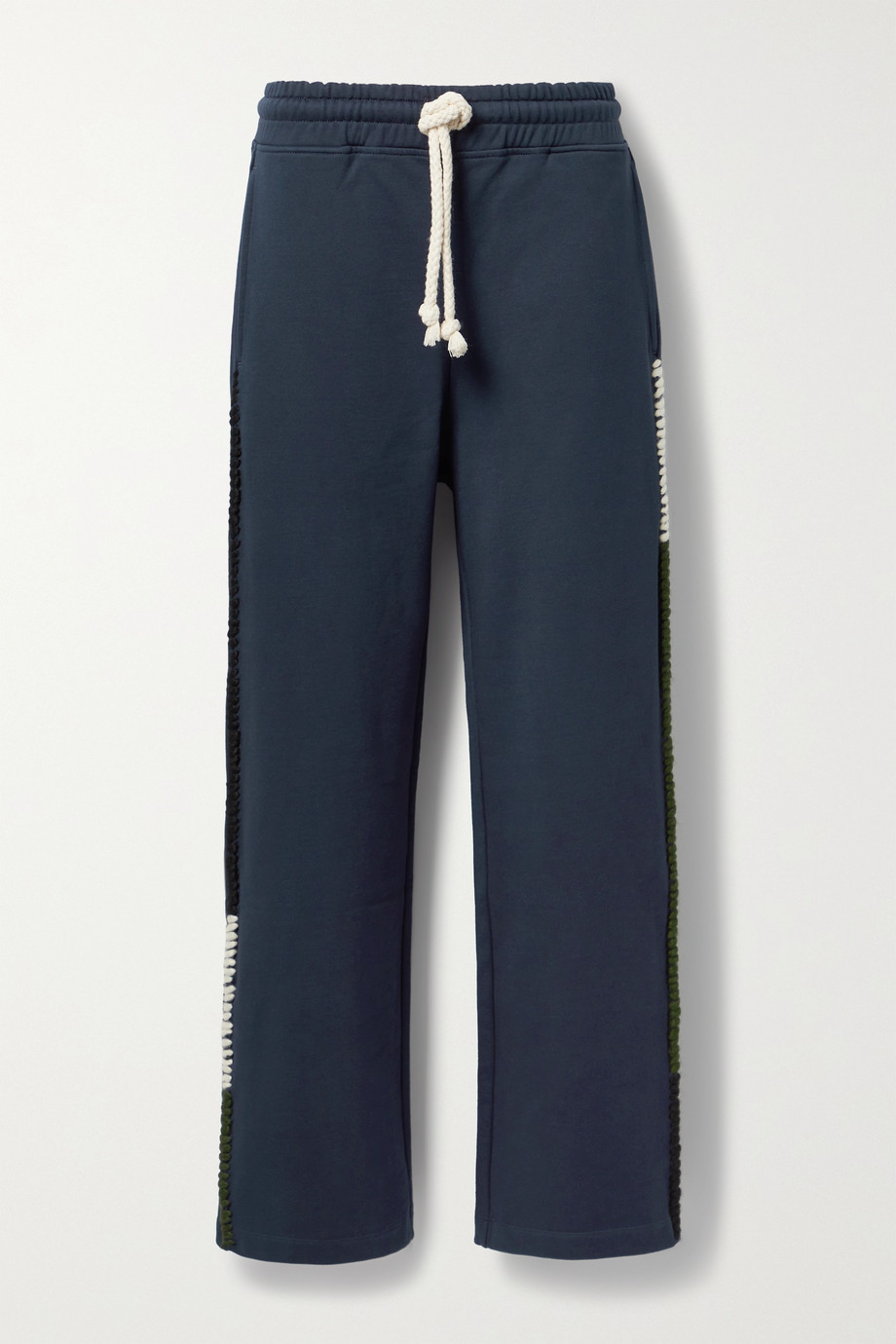 JW Anderson Pantalon de survêtement en jersey de coton à broderies