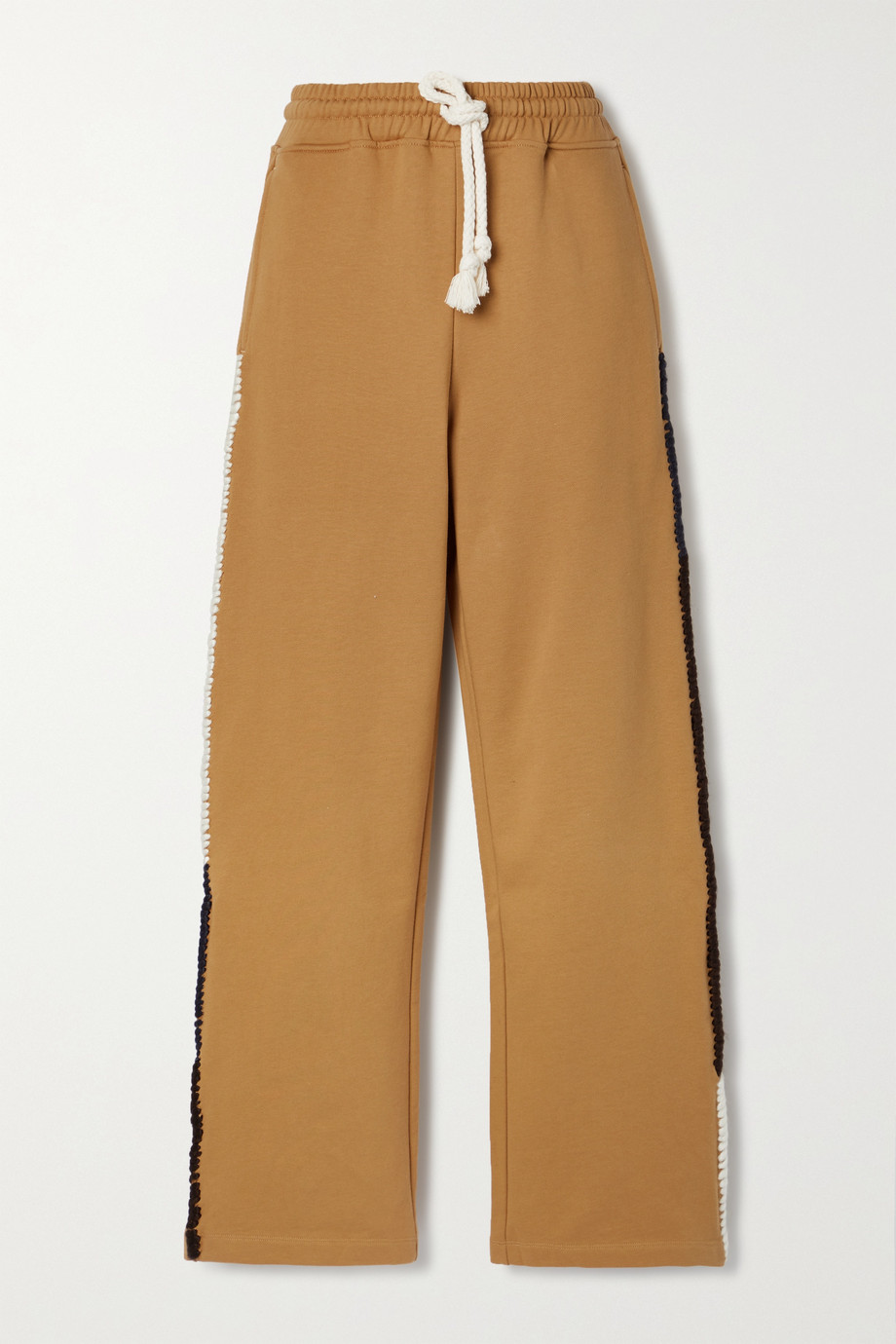JW Anderson Embroidered cotton-jersey track pants