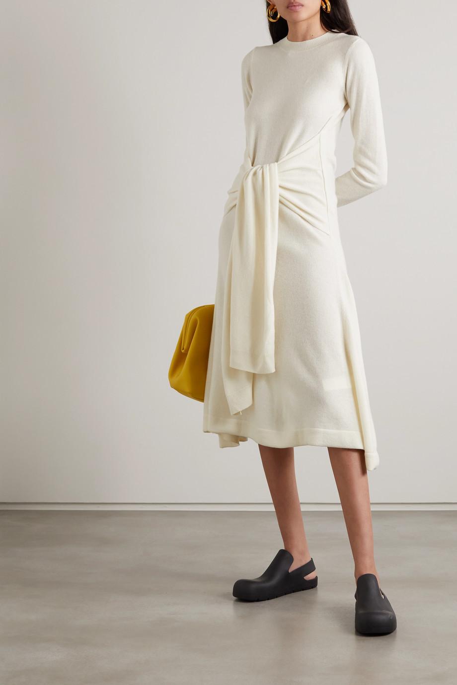 JW Anderson Tie-front wool midi dress