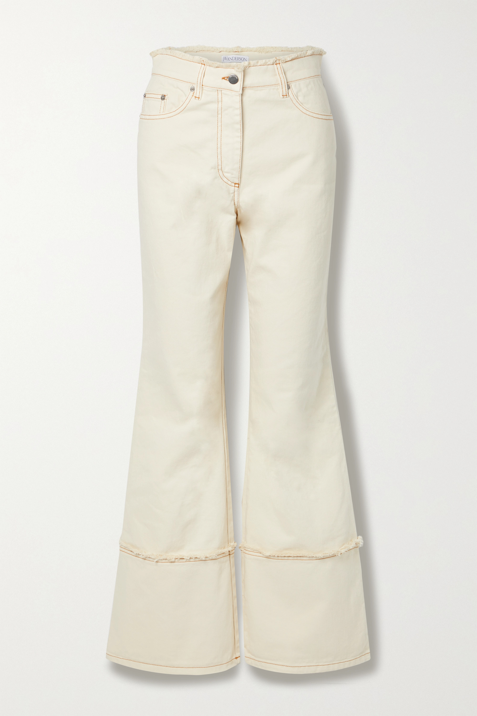 JW Anderson - Frayed high-rise flared jeans