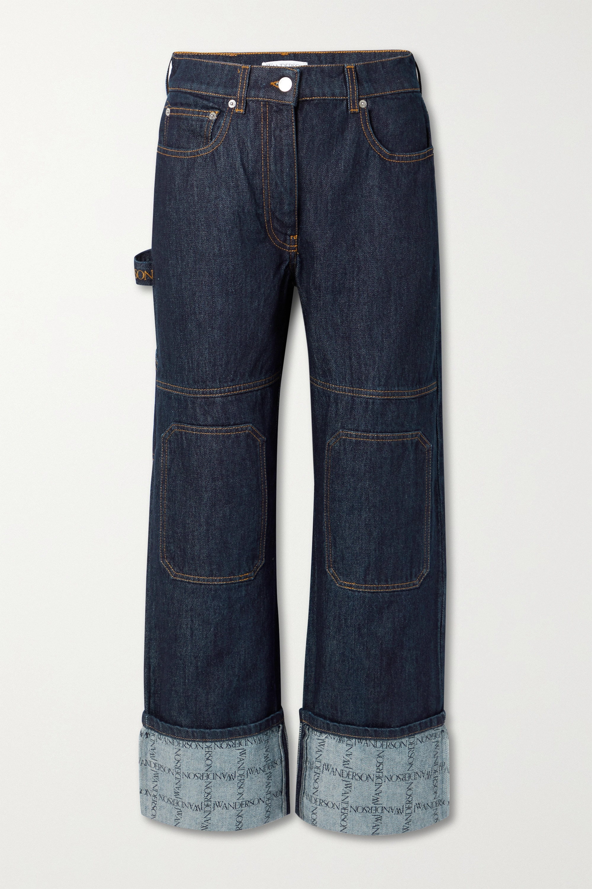 JW Anderson - Printed high-rise straight-leg jeans