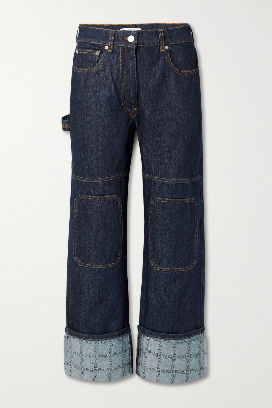 JW Anderson Printed high-rise straight-leg jeans