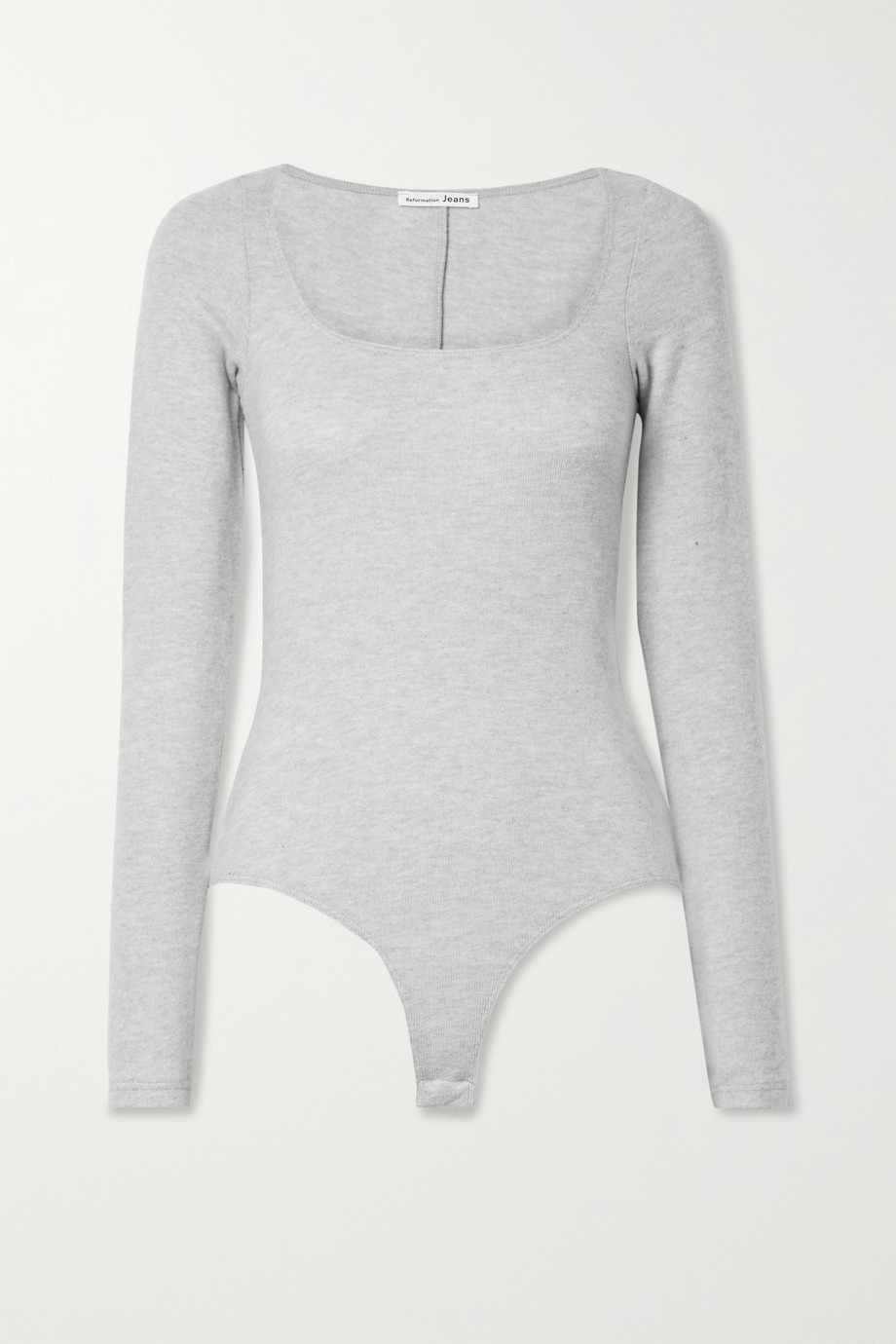 Reformation Katie brushed stretch-TENCEL Lyocell and organic cotton-blend bodysuit