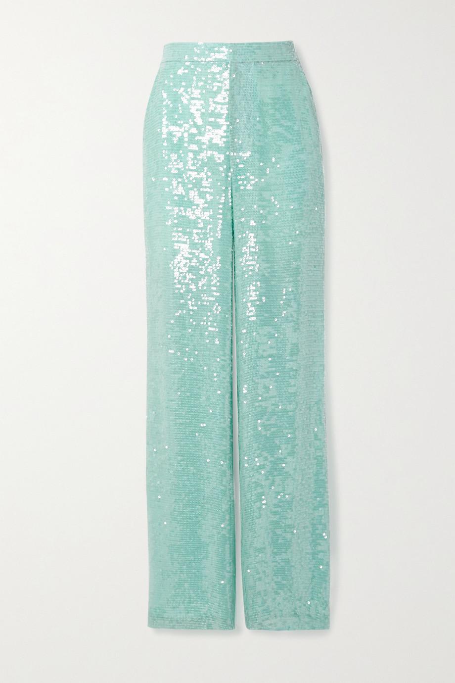 LAPOINTE Hose mit geradem Bein aus Organza mit Pailletten