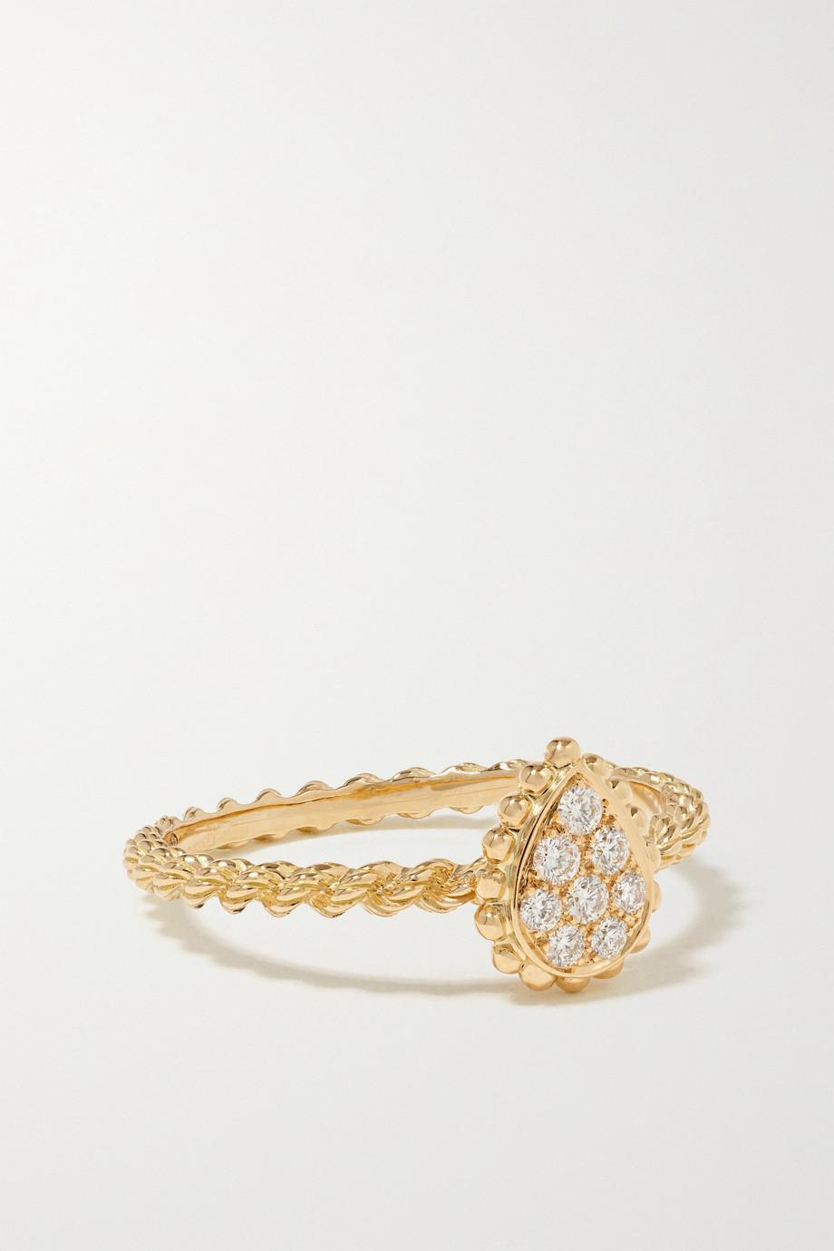Boucheron Bague en or 18 carats et diamants Serpent Bohème