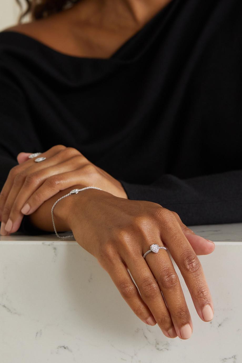 Boucheron Bague en or blanc 18 carats et diamants Serpent Bohème