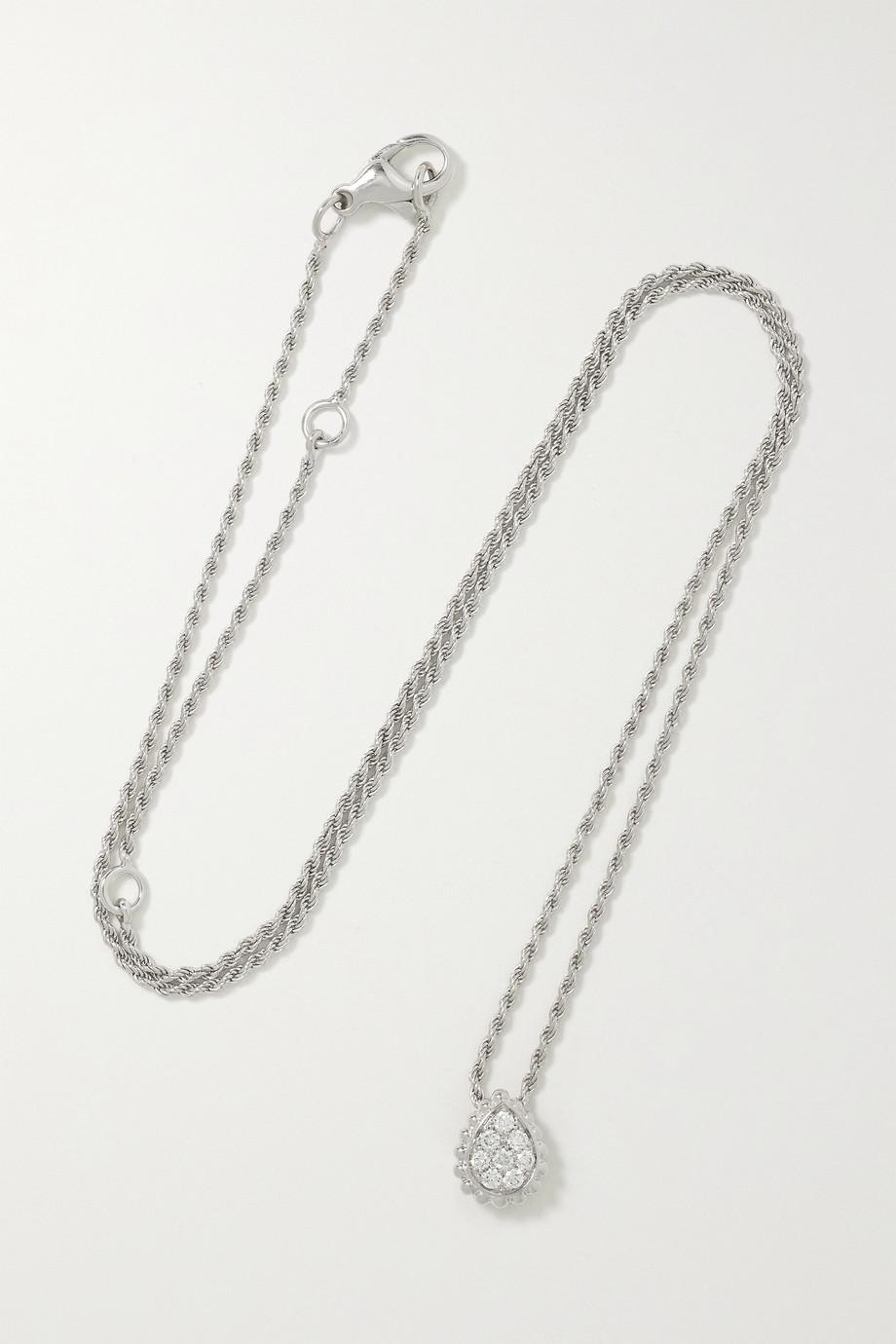 Boucheron Collier en or blanc 18 carats et diamants Serpent Bohème