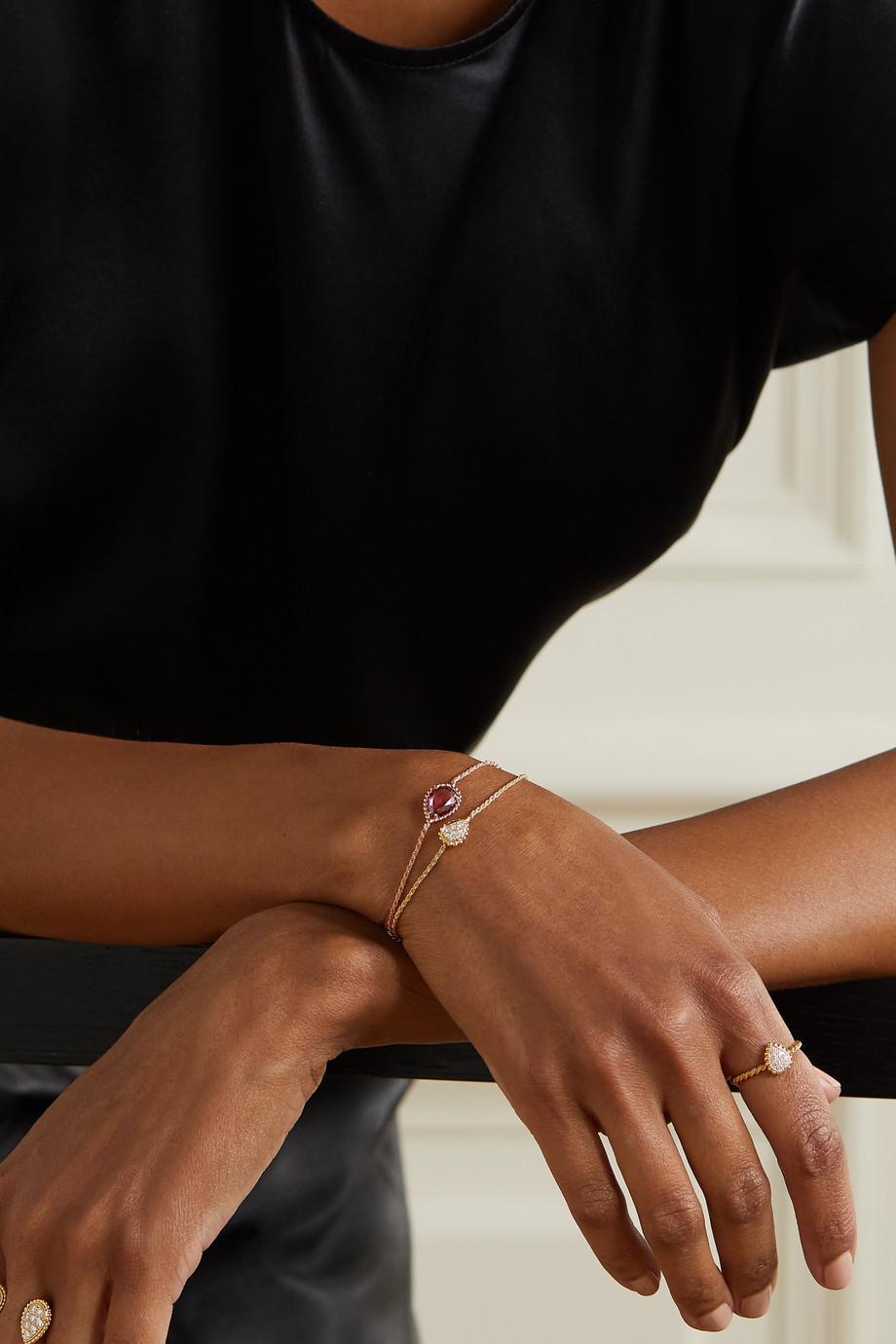 Boucheron Bracelet en or rose 18 carats et rhodolite Serpent Bohème