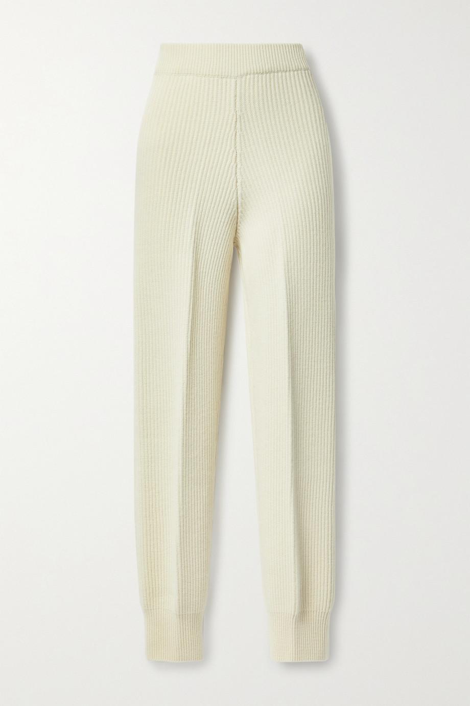 Frankie Shop Ribbed wool track pants