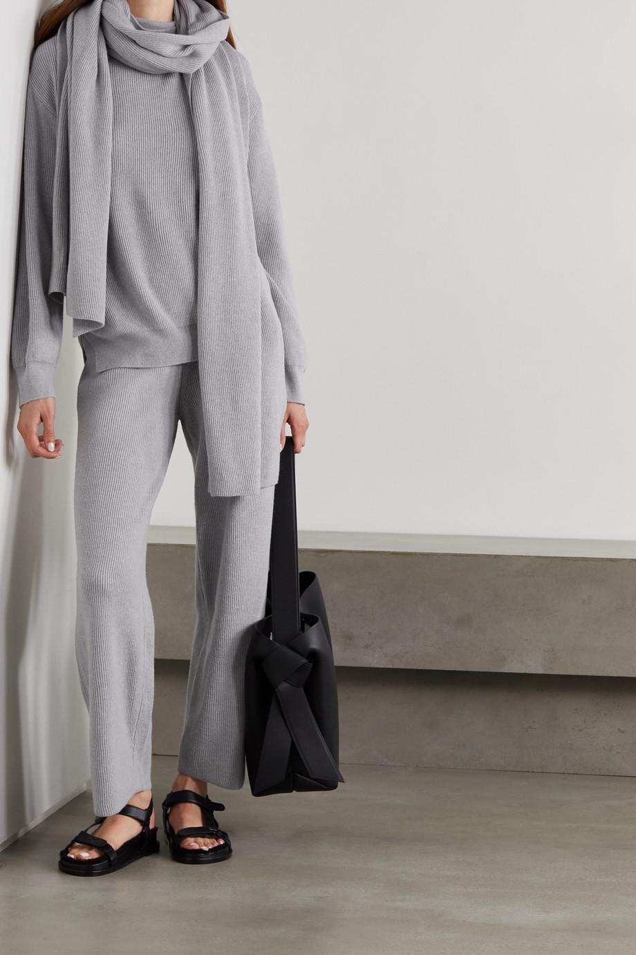Frankie Shop Ribbed-knit straight-leg pants