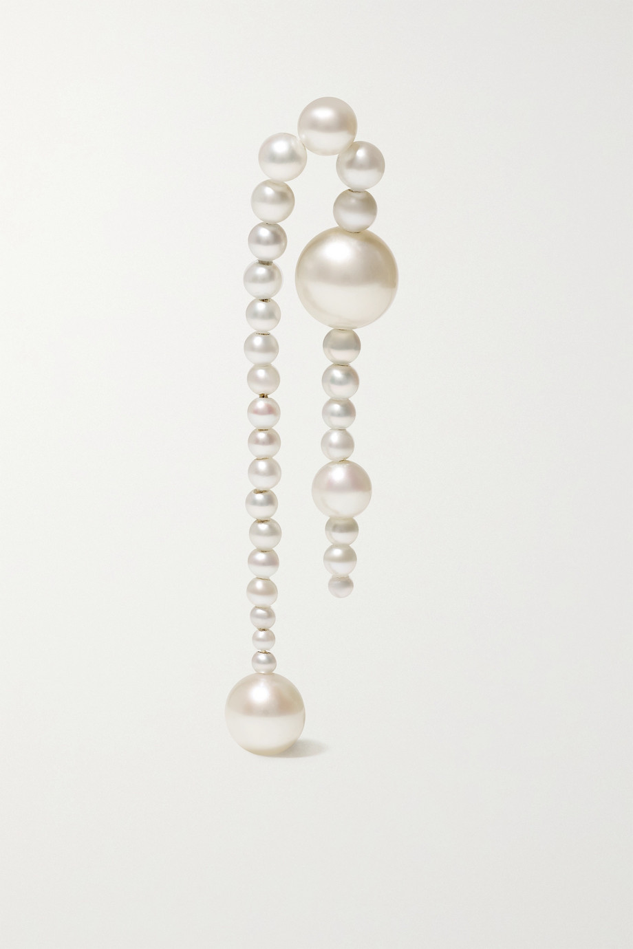 Sophie Bille Brahe Splash Nuit 14-karat gold pearl single earring