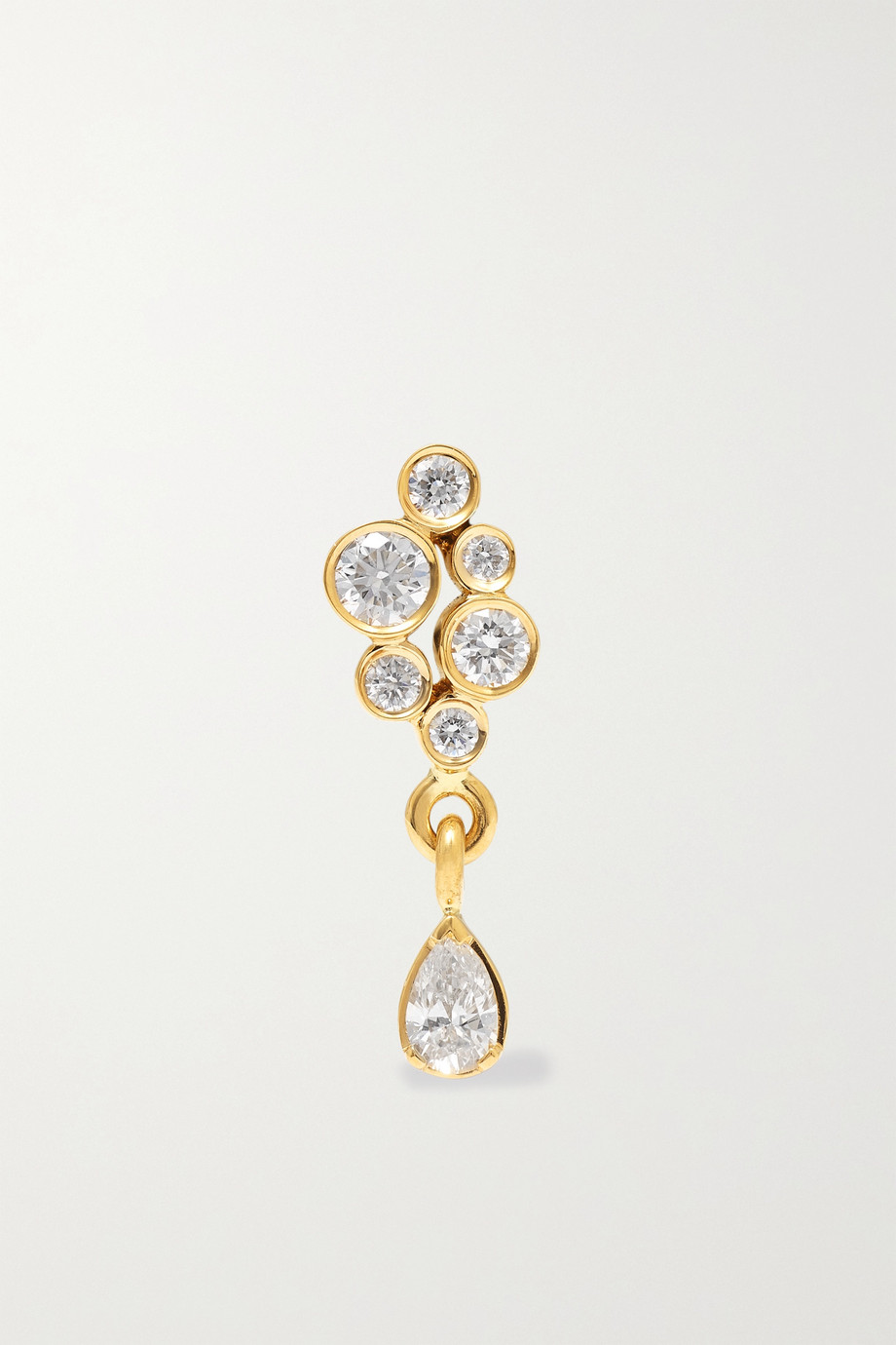 Sophie Bille Brahe Petite Splash 18-karat gold diamond single earring