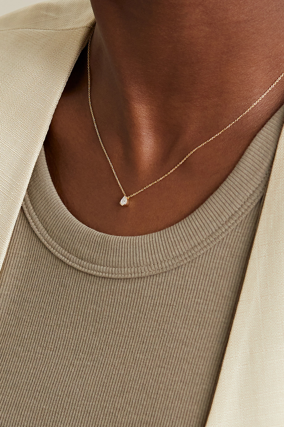 Sophie Bille Brahe Goutte 18-karat gold diamond necklace