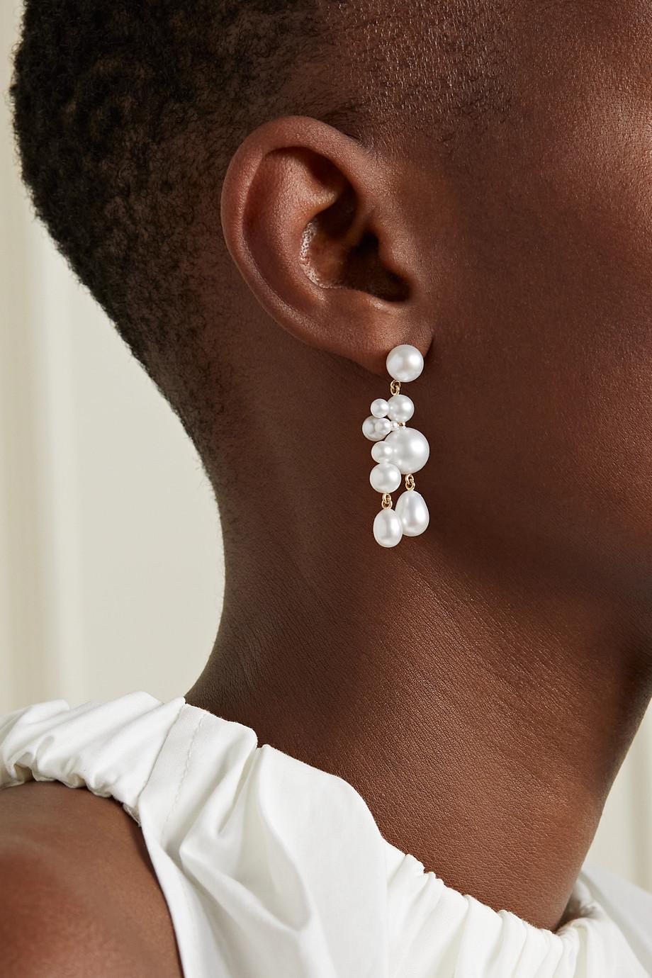 Sophie Bille Brahe Boucles d'oreilles en or 14 carats (585/1000) et perles Beverly