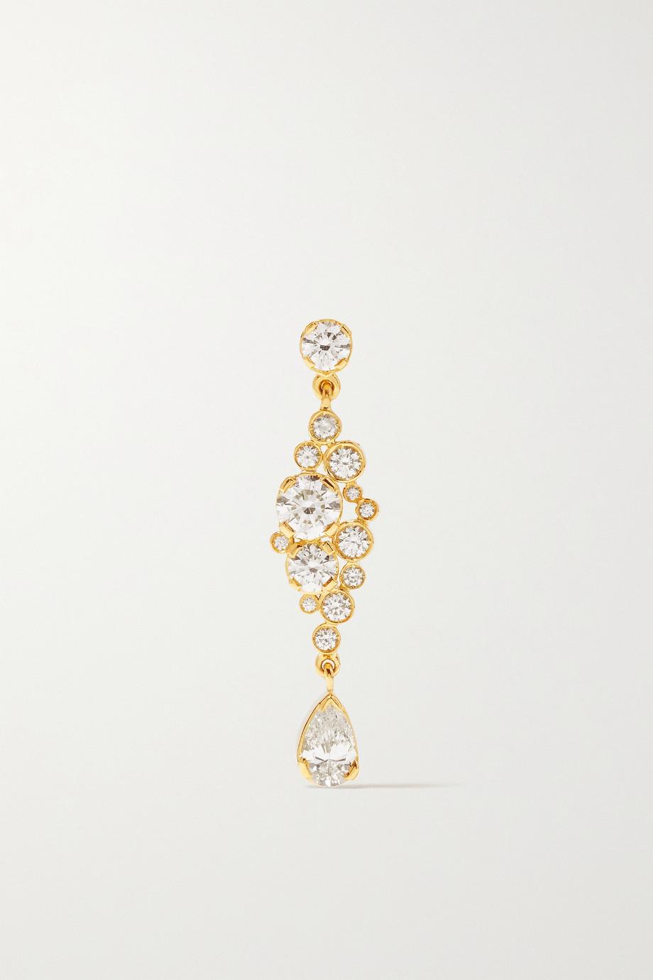 Sophie Bille Brahe Splash einzelner Ohrring aus 18 Karat Gold mit Diamanten