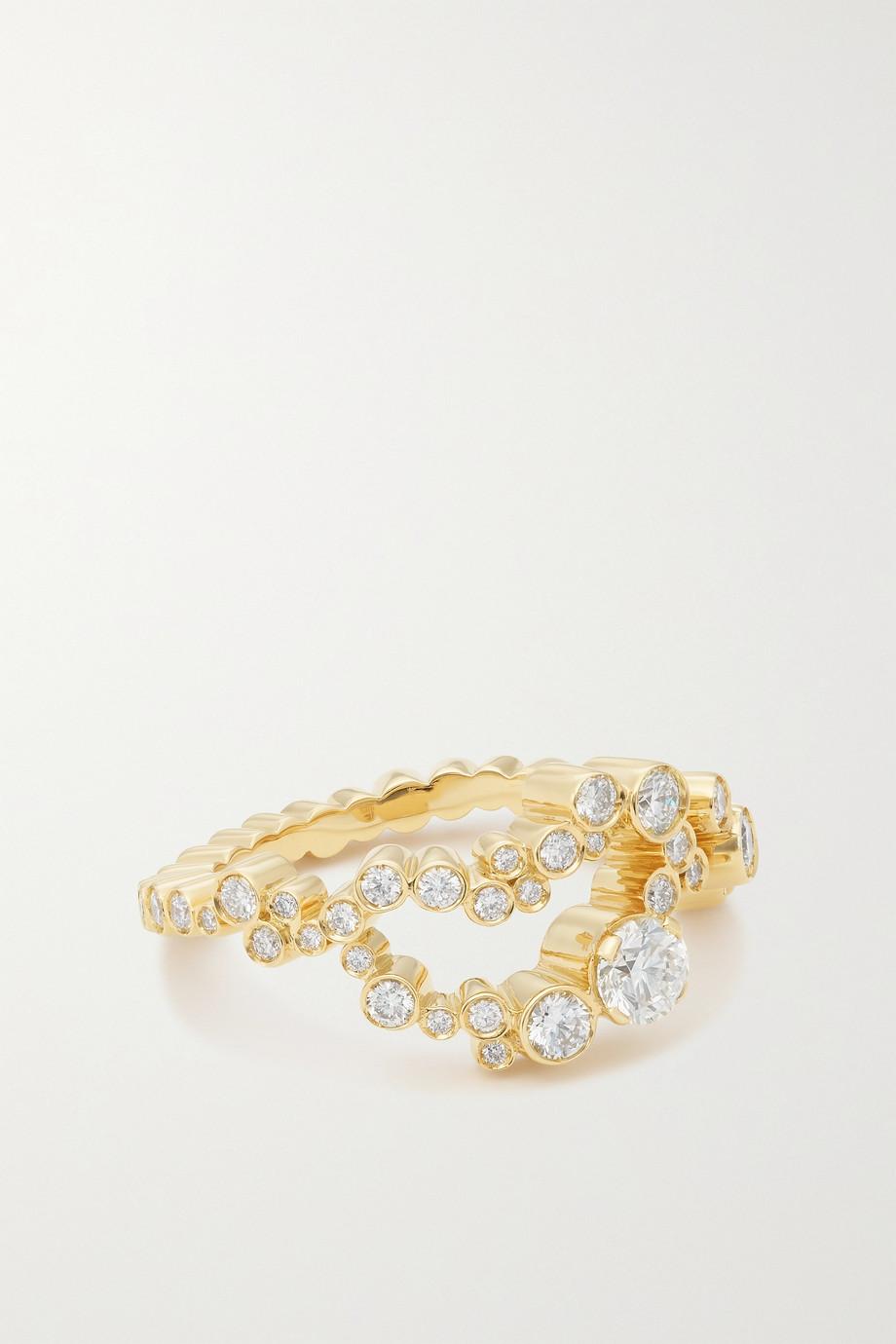 Sophie Bille Brahe Grand Splash Ring aus 18 Karat Gold mit Diamanten