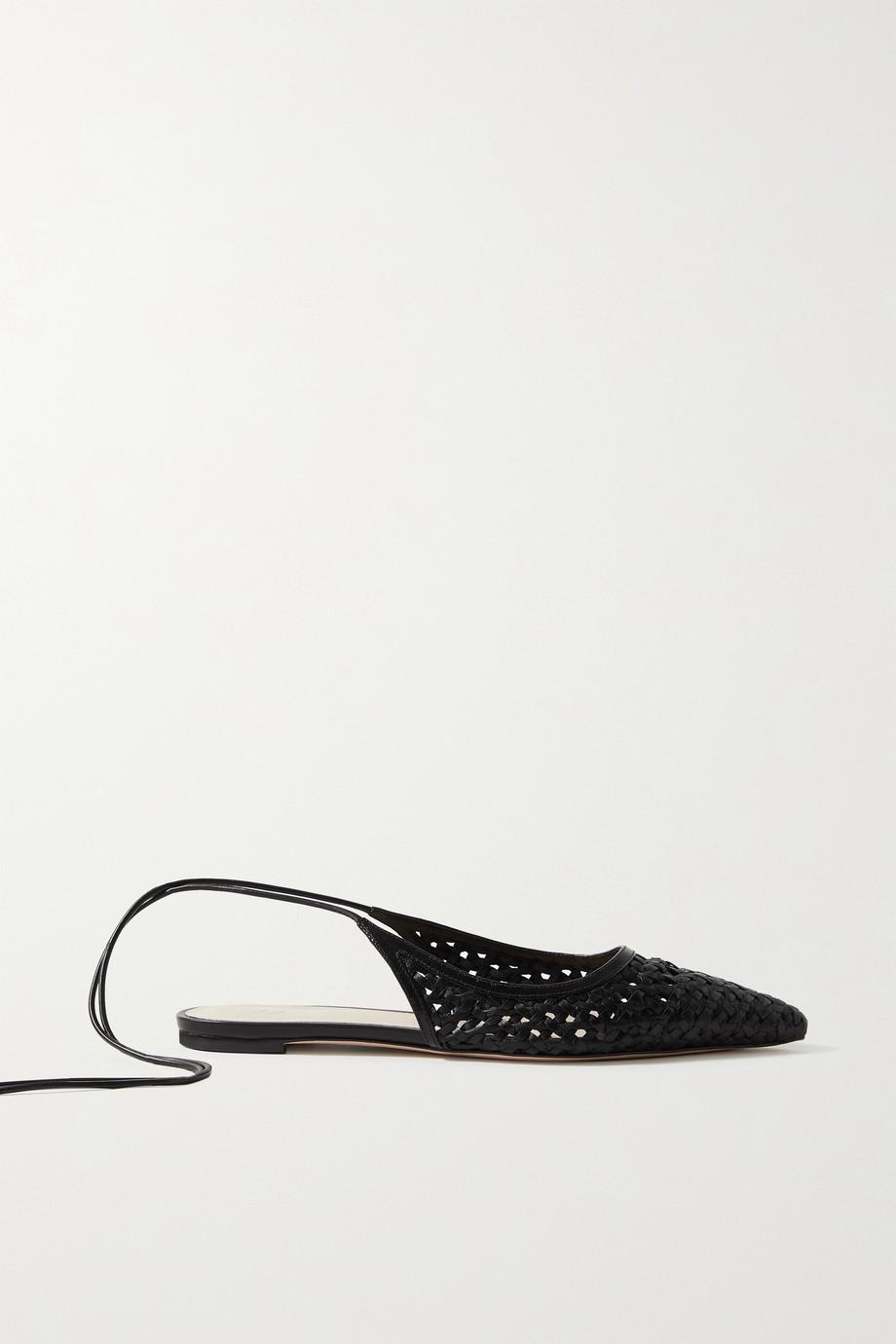 Porte & Paire Chaussures plates à bouts pointus en cuir tressé
