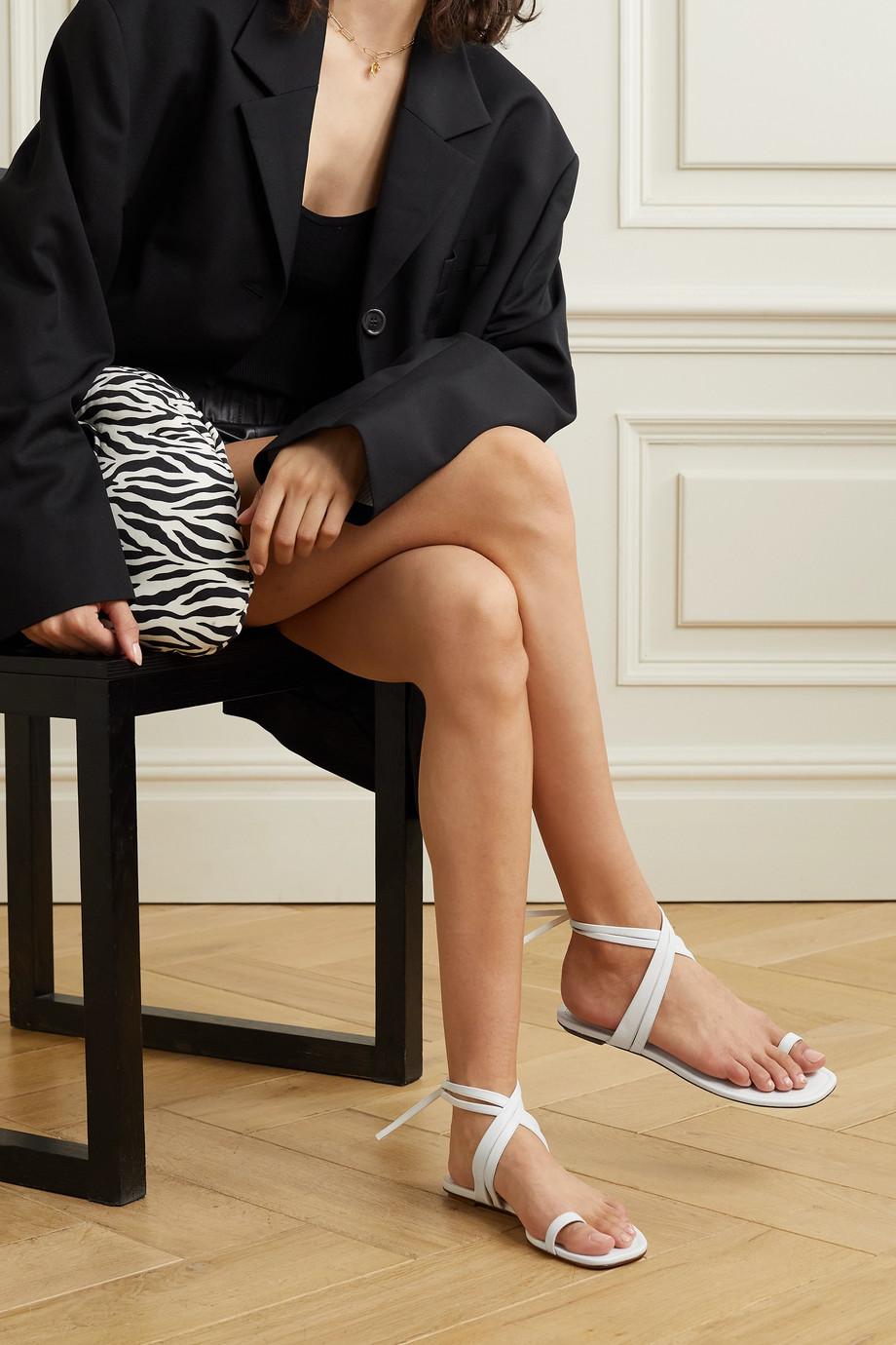 Porte & Paire Sandalen aus Leder