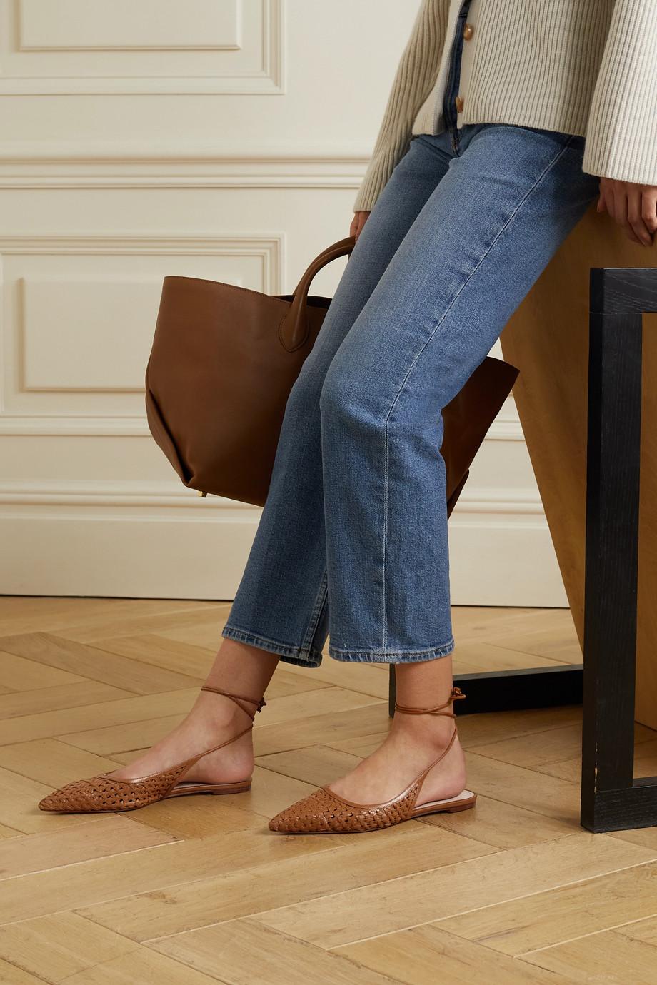 Porte & Paire Flache Schuhe aus geflochtenem Leder