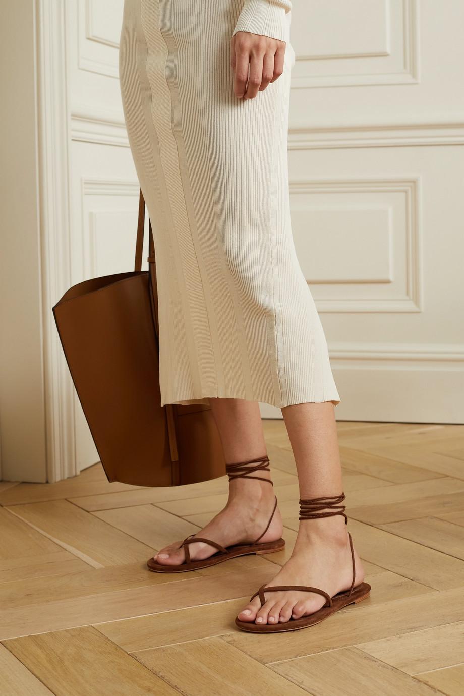 Porte & Paire Suede sandals