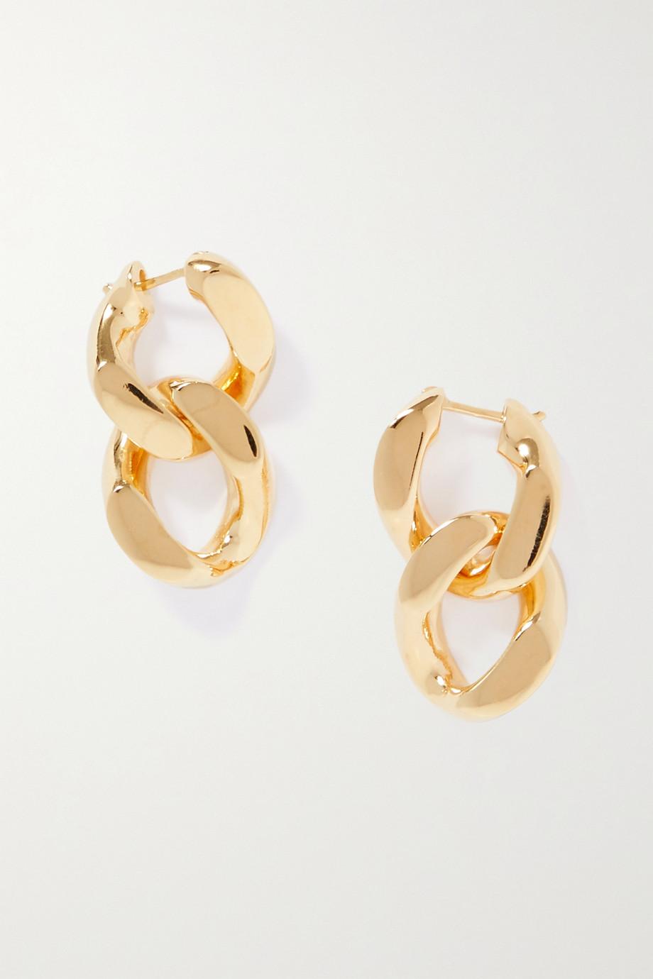 Bottega Veneta Gold-tone silver earrings