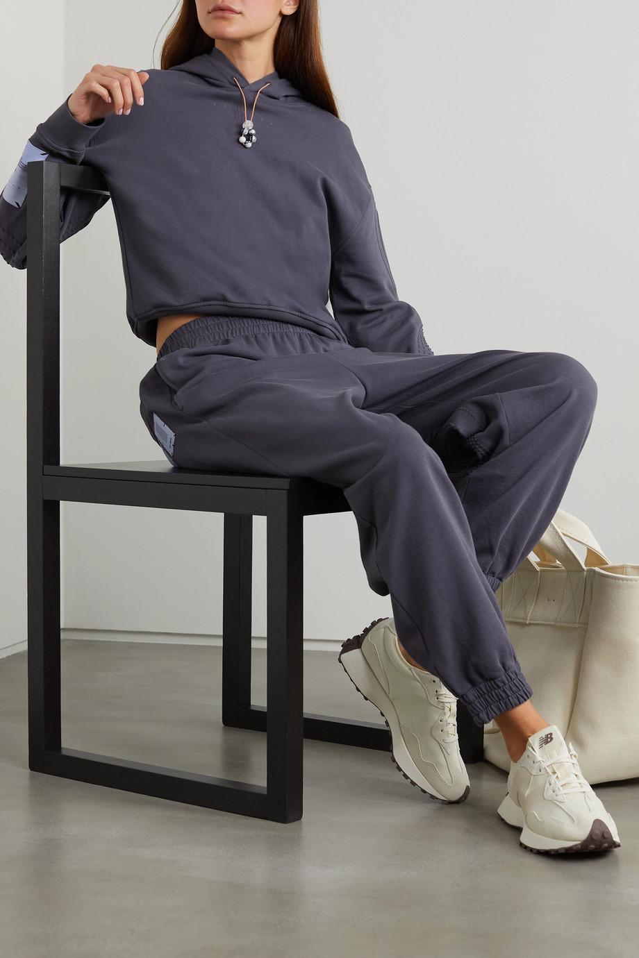 MCQ Breathe Hoodie aus Baumwoll-Jersey mit Stickereien und Zierperlen
