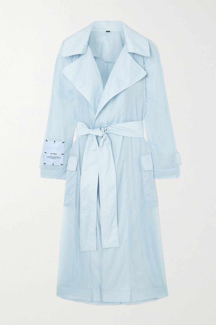 MCQ Trench-coat en ripstop à ceinture Breathe