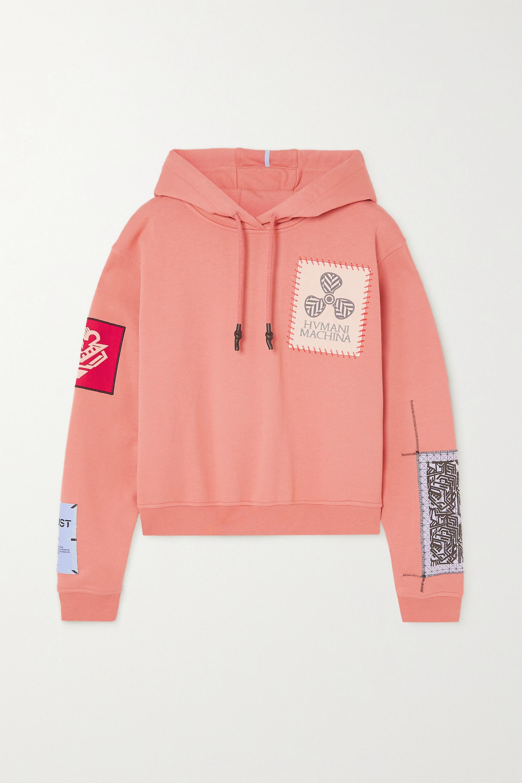 MCQ - In Dust appliquéd cotton-jersey hoodie
