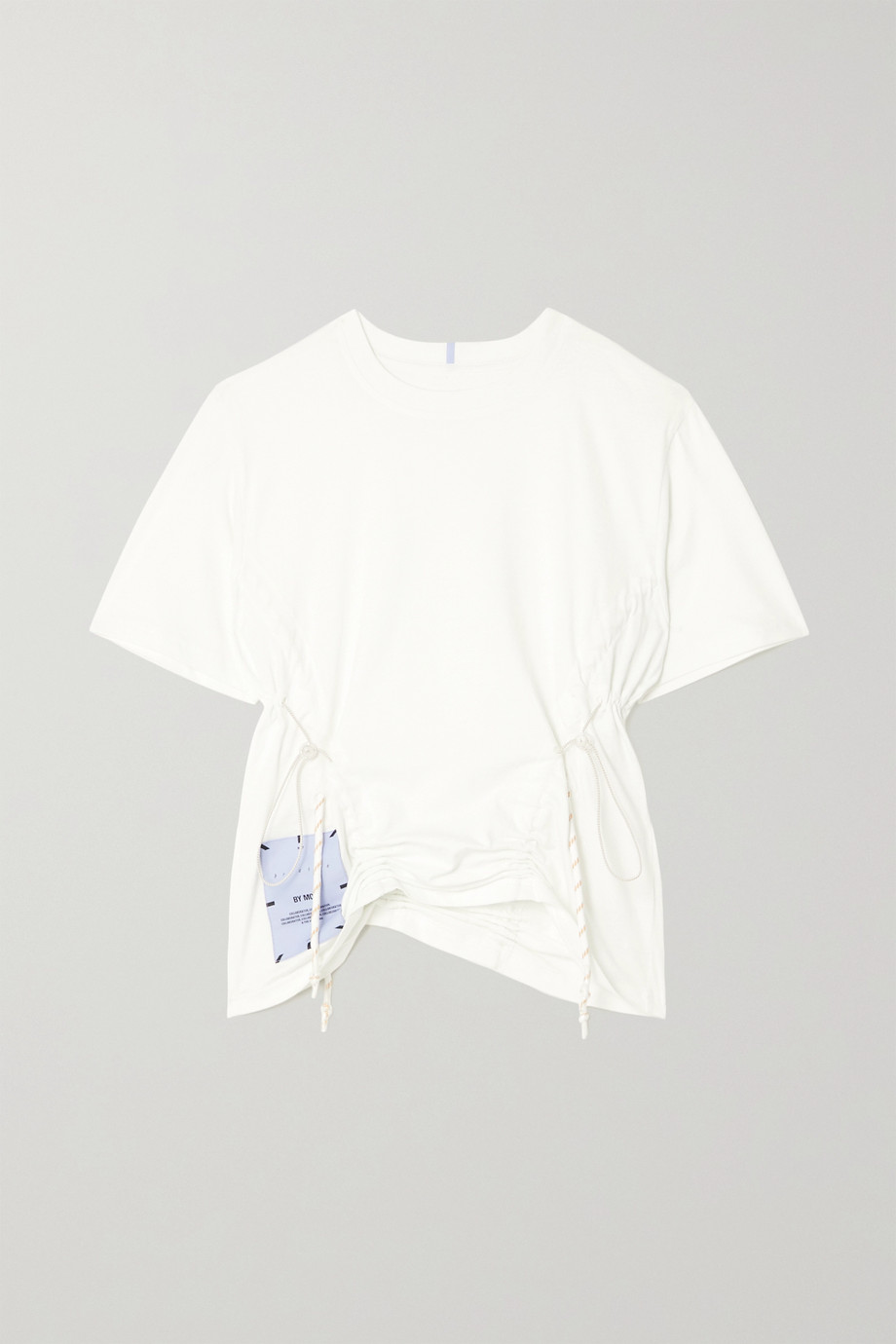 MCQ Breathe ruched cotton-jersey T-shirt