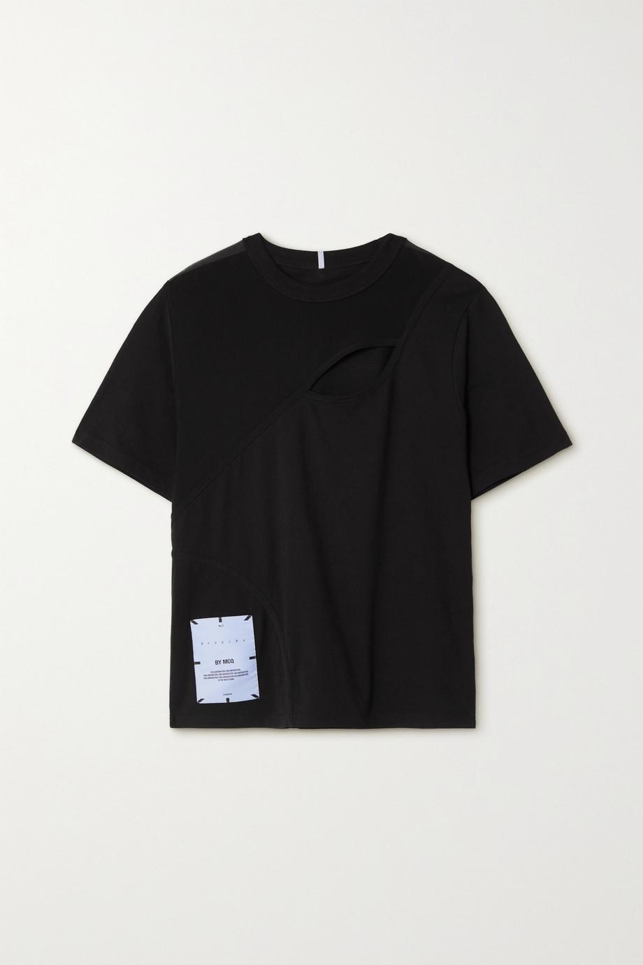MCQ Breathe appliquéd cutout cotton-jersey T-shirt