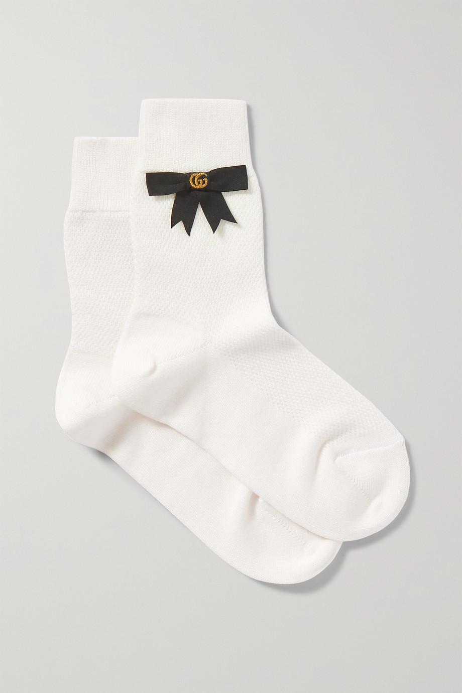 Gucci Bow-embellished cotton-blend socks