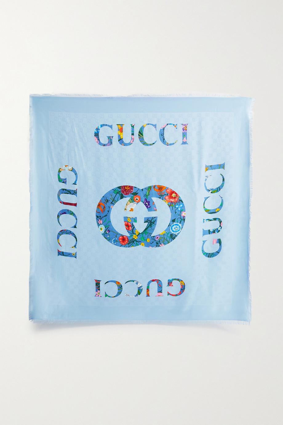 Gucci Châle en jacquard de serge satinée de modal mélangé imprimé