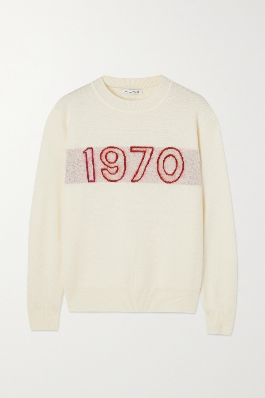 Bella Freud Pull en laine mélangée intarsia 1970 Glow