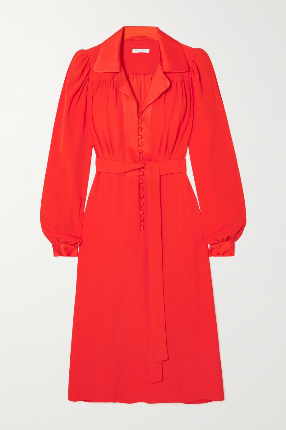 Bella Freud Floria belted crepe shirt dress