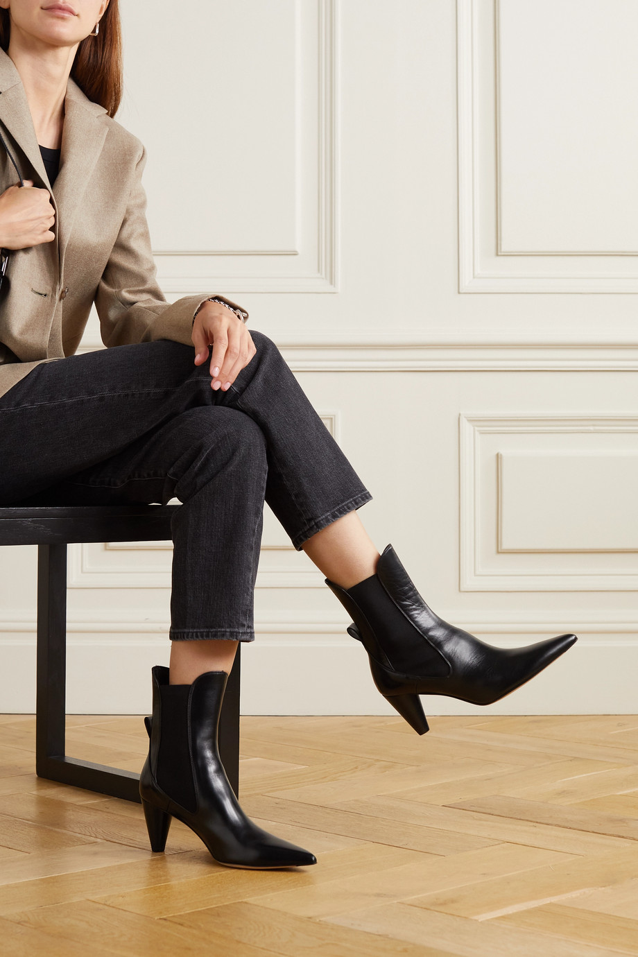 aeyde Clementine leather ankle boots