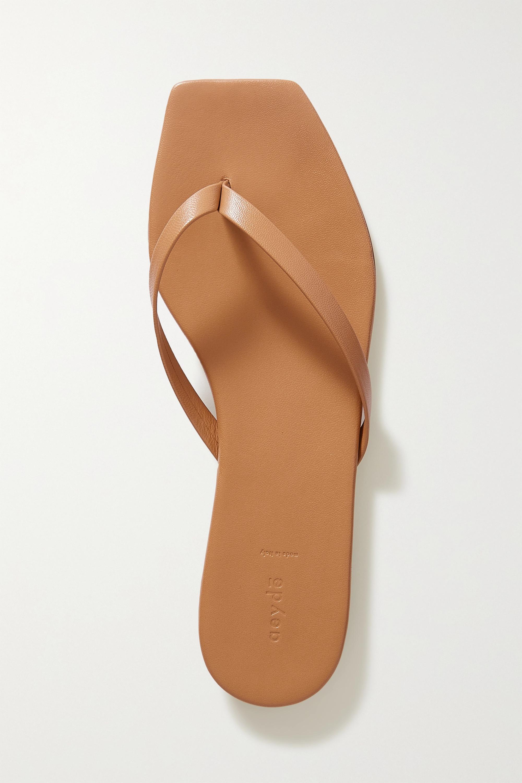 aeyde Renee leather flip flops