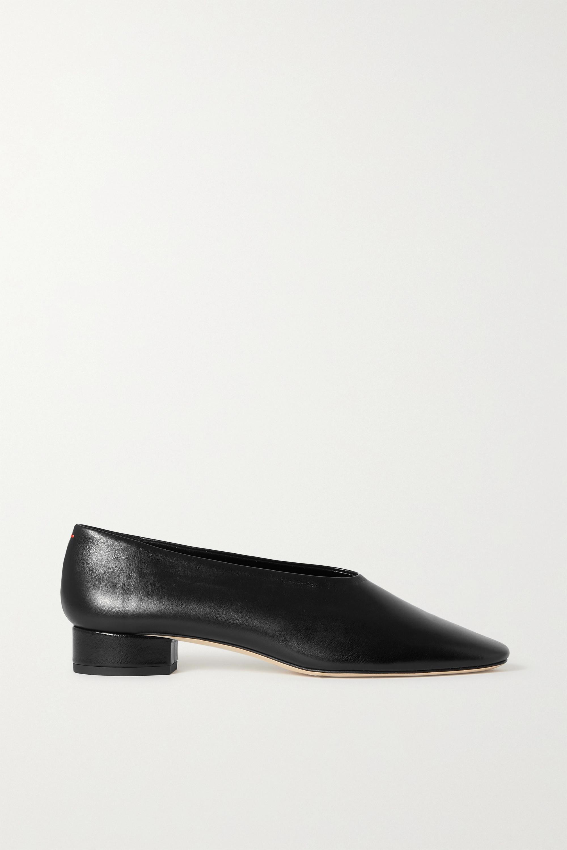 aeyde Delia leather pumps