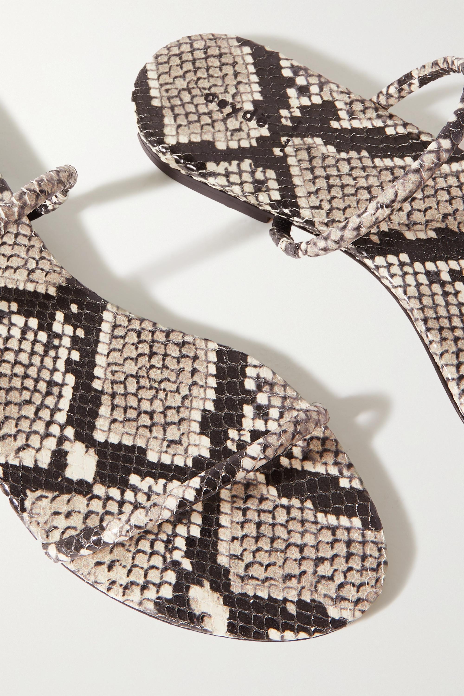 aeyde Alek snake-effect leather slides