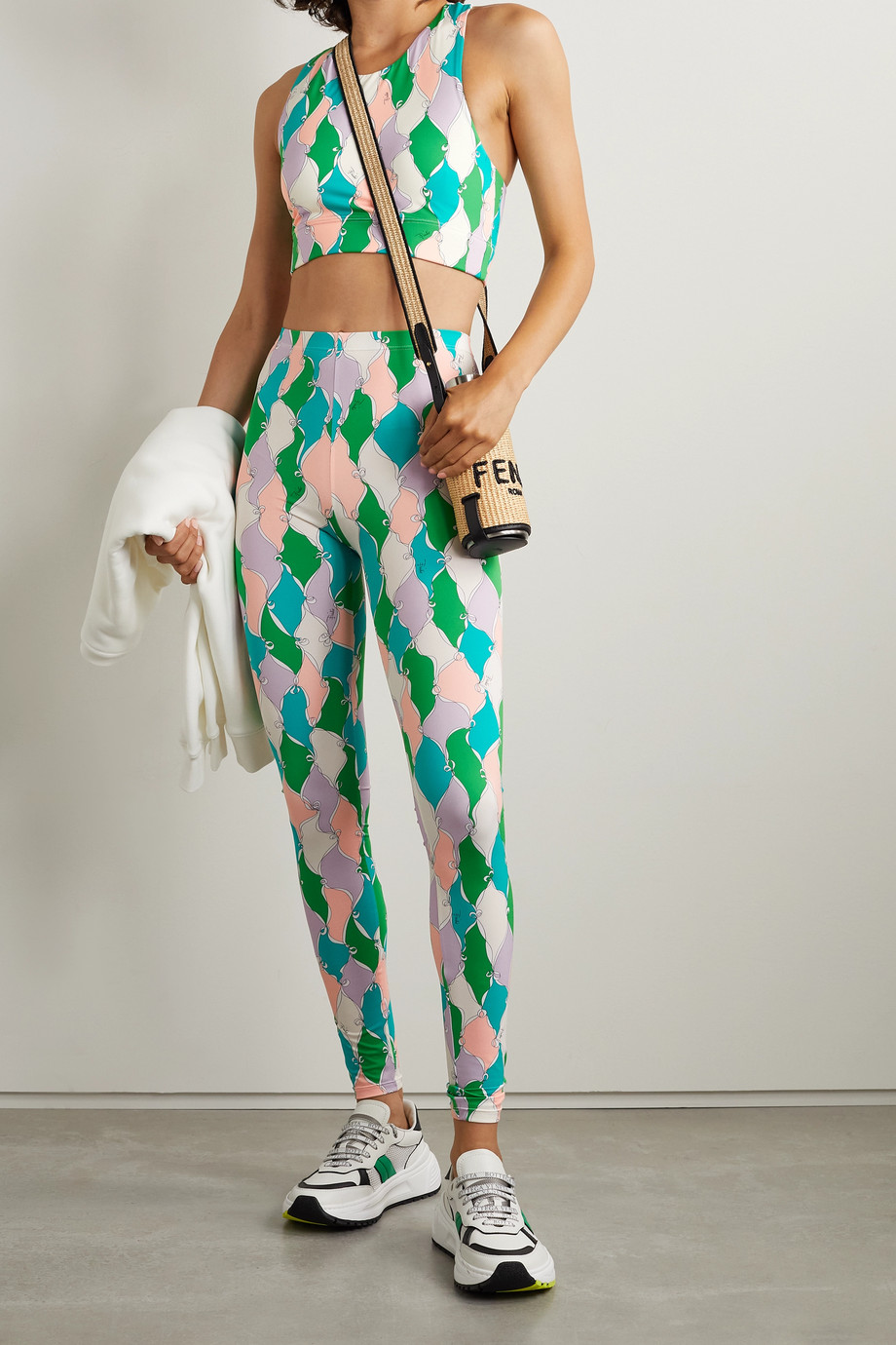 Emilio Pucci + NET SUSTAIN printed recycled stretch leggings