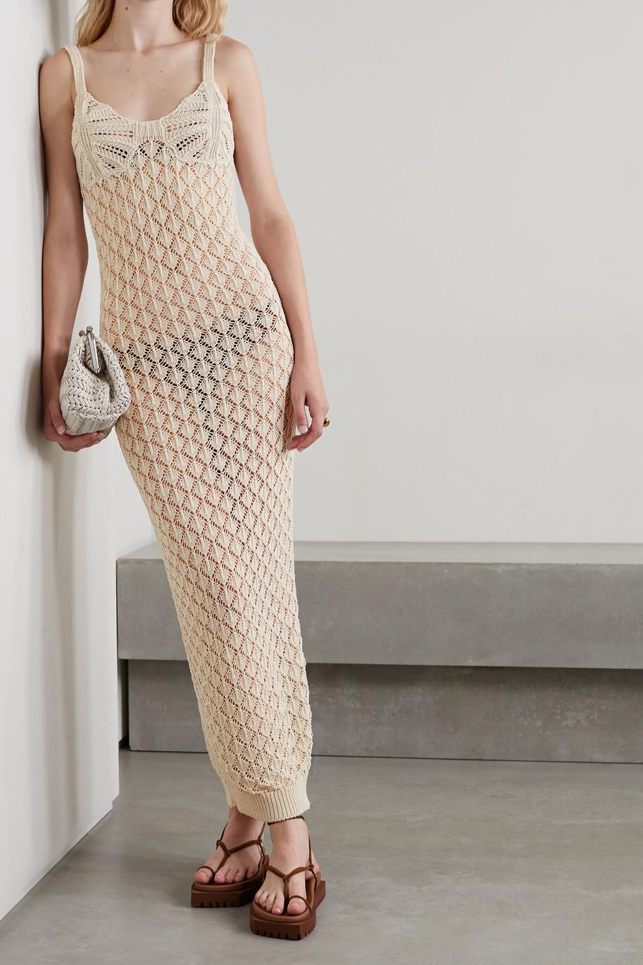REMAIN Birger Christensen Rosmunda crocheted organic cotton-blend maxi dress