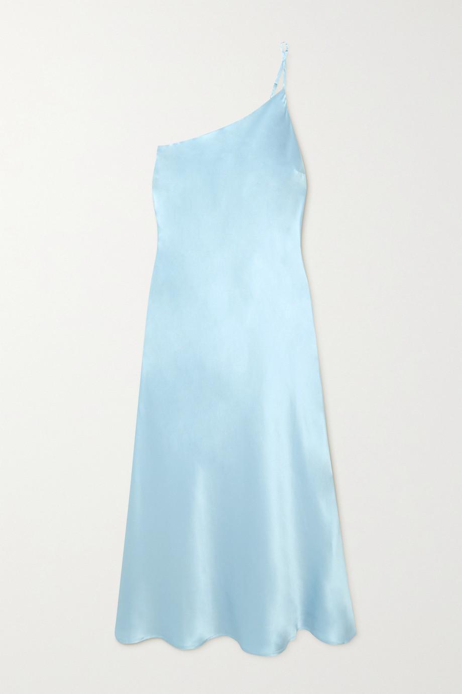 Maison Essentiele Lucile Nachthemd aus Seidensatin mit asymmetrischer Schulterpartie