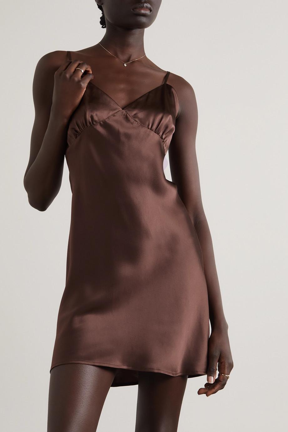 Maison Essentiele Valerie silk-satin chemise
