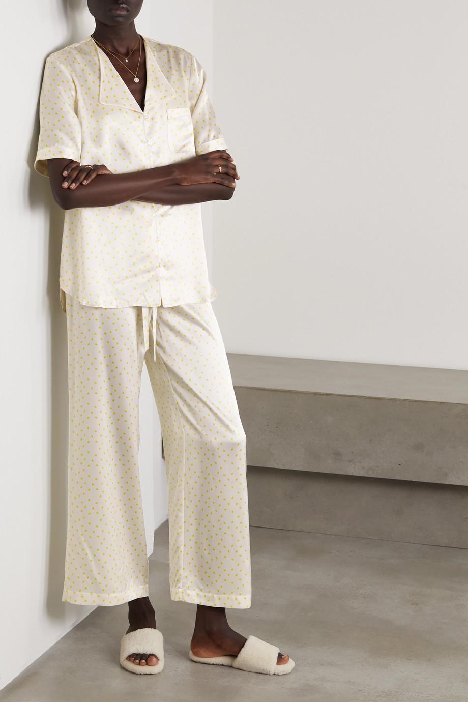 Maison Essentiele Emma printed silk-satin pajama set