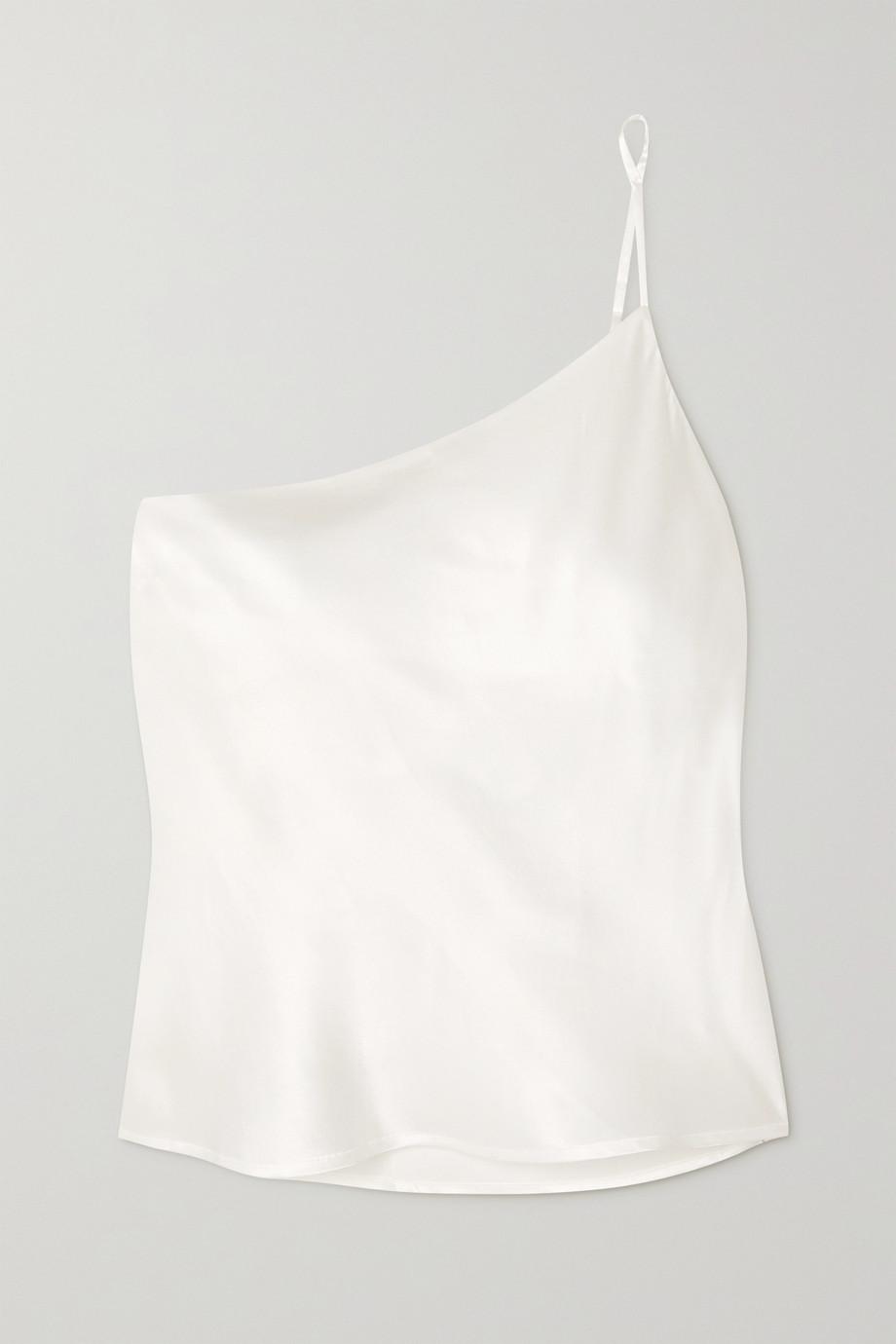 Maison Essentiele Lucile Top aus Seidensatin mit asymmetrischer Schulterpartie
