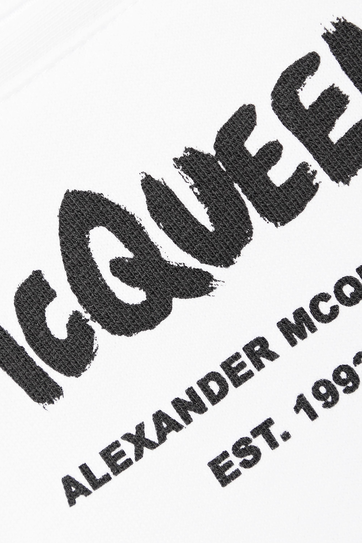 Alexander McQueen Printed cotton-jersey track pants