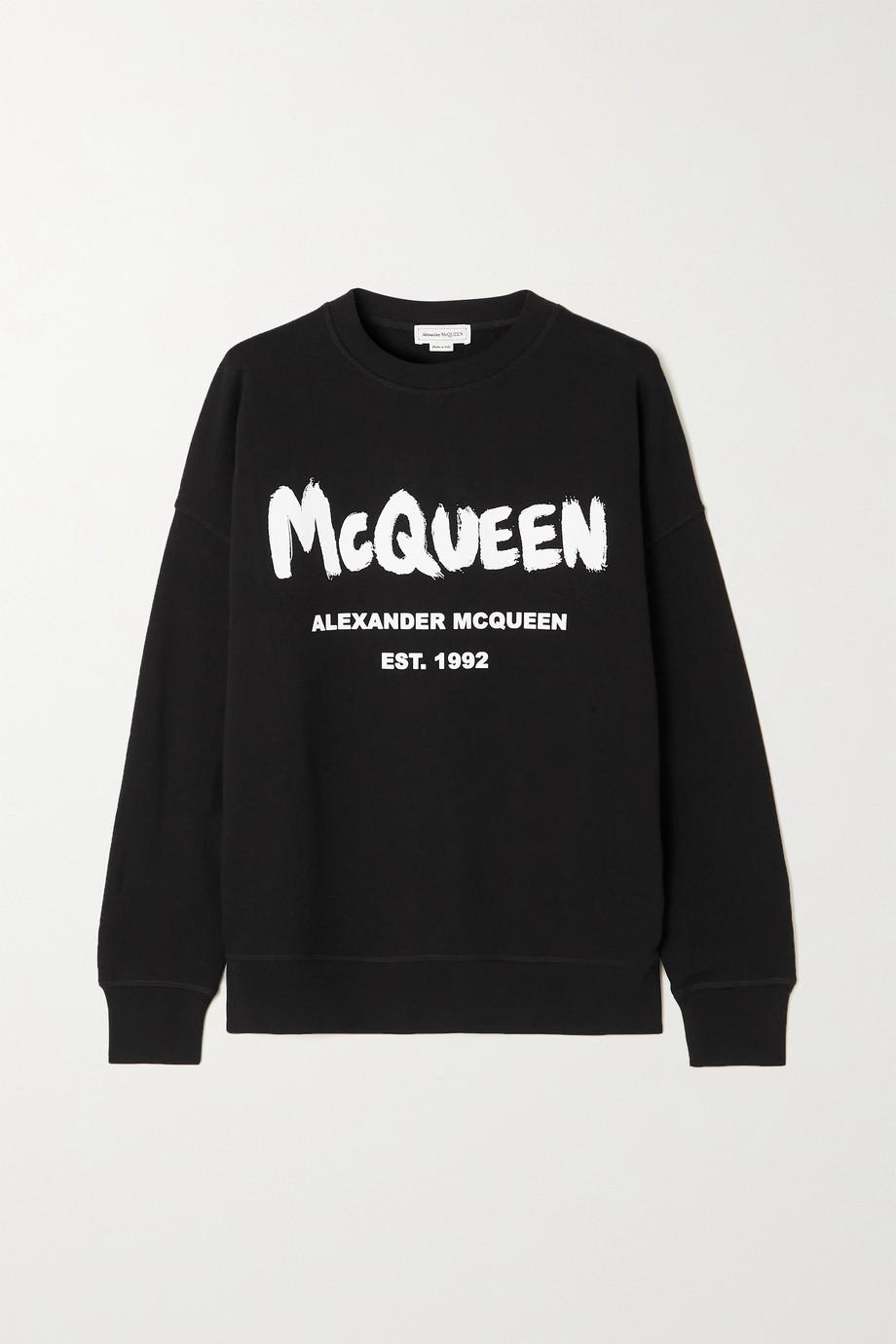 Alexander McQueen Sweatshirt aus Baumwoll-Jersey mit Print