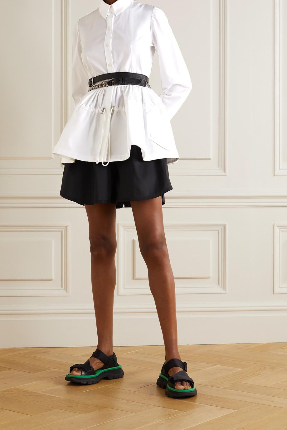 Alexander McQueen Hemd aus Baumwoll-Piqué mit Raffungen und Schößchen
