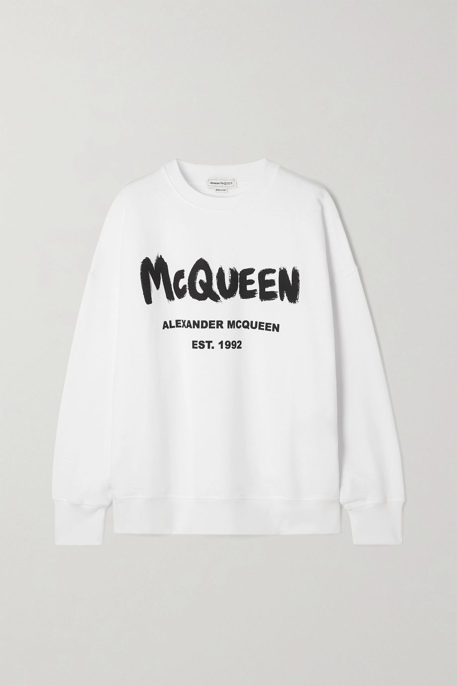 Alexander McQueen Printed cotton-jersey sweatshirt